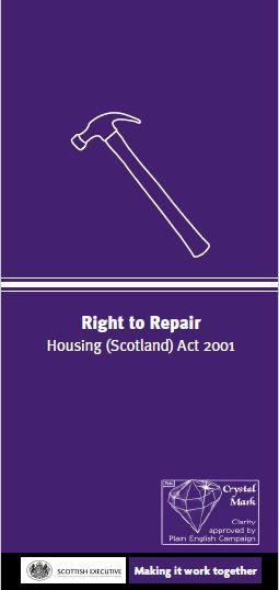 Right to Repair Leaflet
